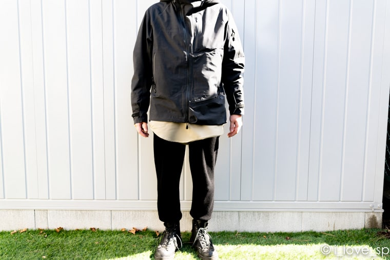 ジャケットMサイズ着用写真