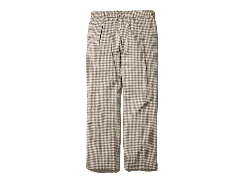 C/L Panama Easy Pants ベージュチェック