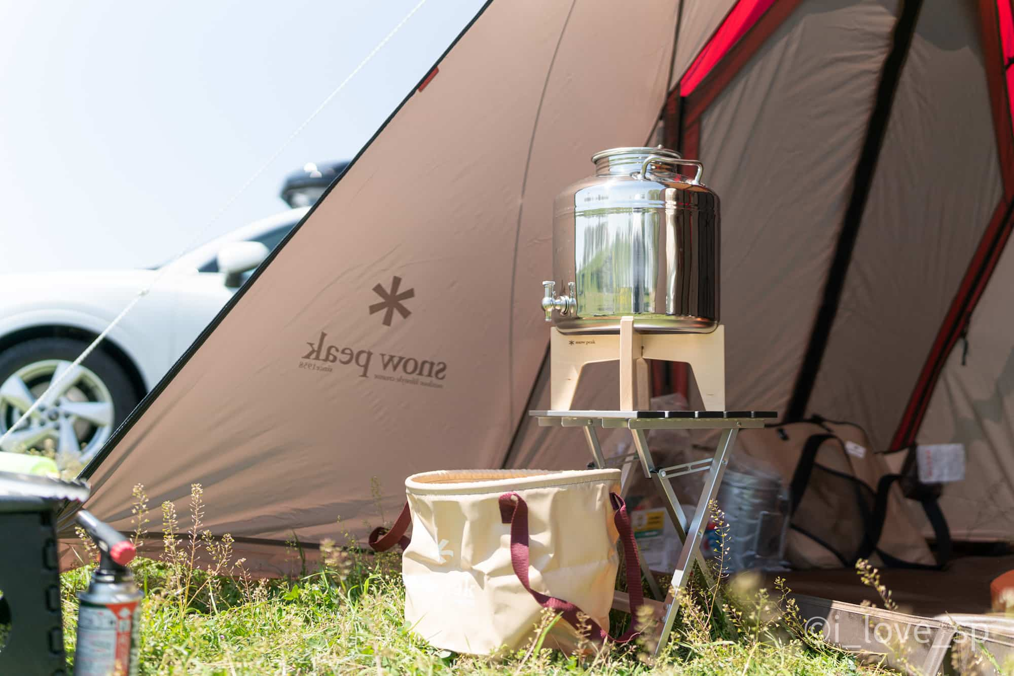 ジャンボキャンプシンクとステンジャグ使用例