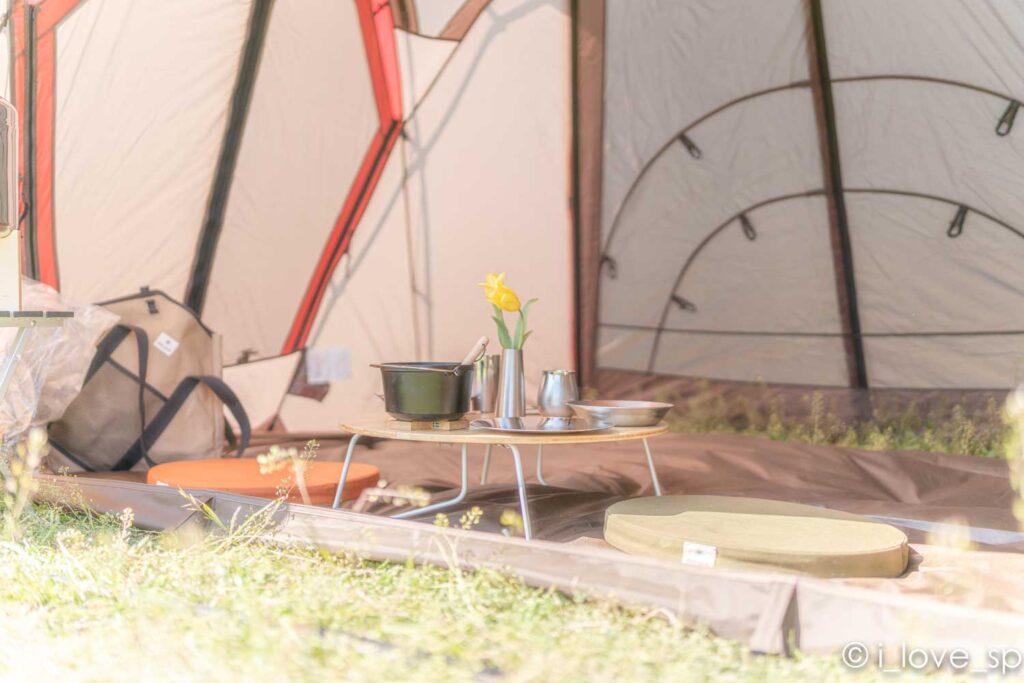 ちゃぶ台竹はお座敷キャンプにぴったり