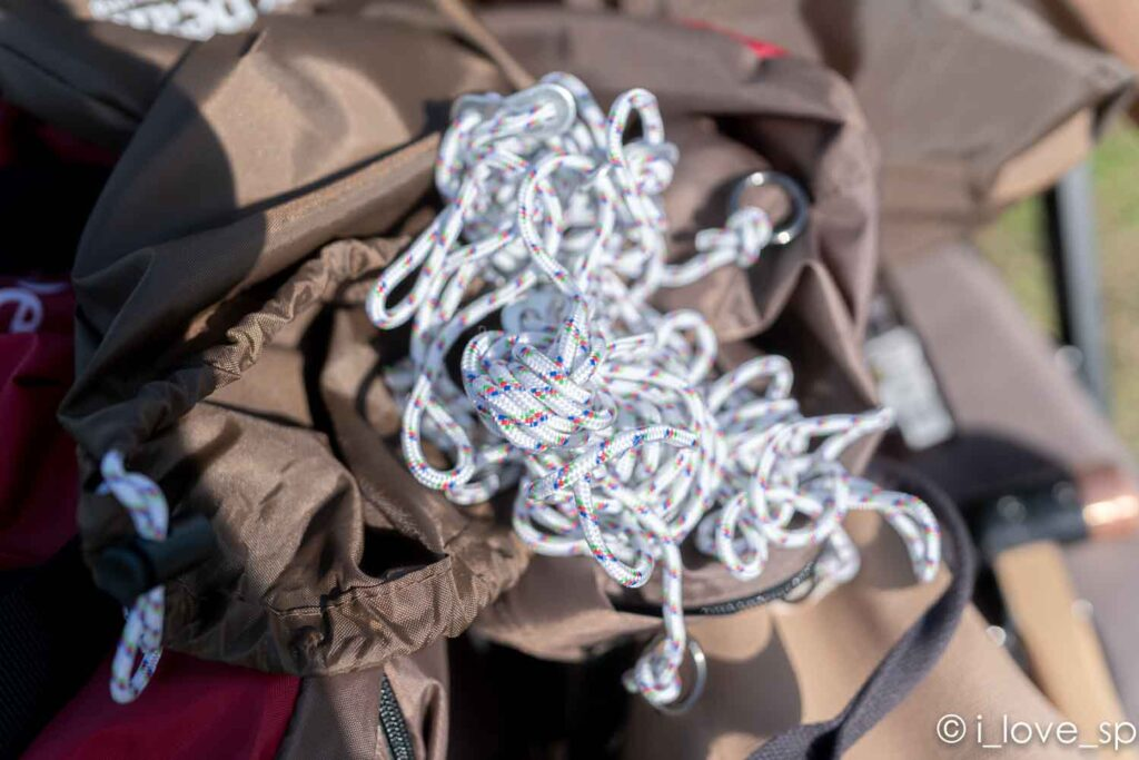 リビングシェルSに使用するロープ