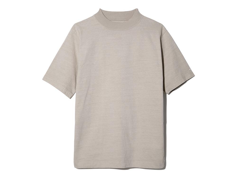 Heavy Cotton Mockneck Tshirt ベージュ