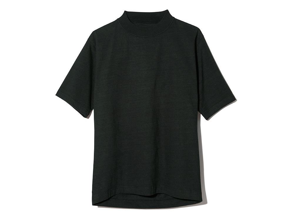 Heavy Cotton Mockneck Tshirt ブラック