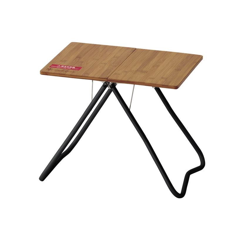 ワンアクションローテーブル竹 ブラック