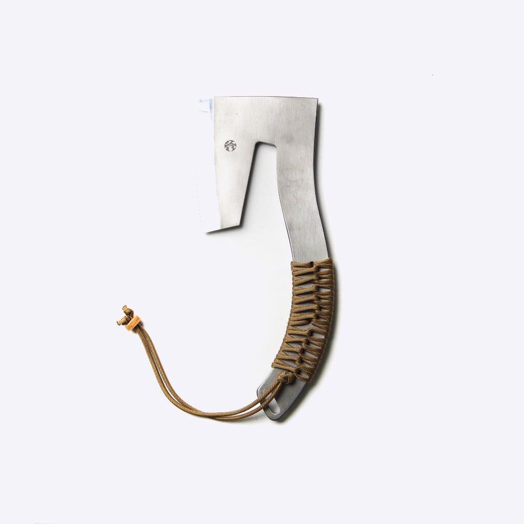 越乃火匠 久八の手鉞共柄のデザイン