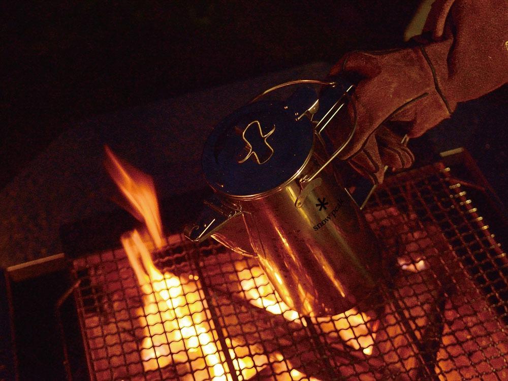 クラシックケトルは焚き火対応