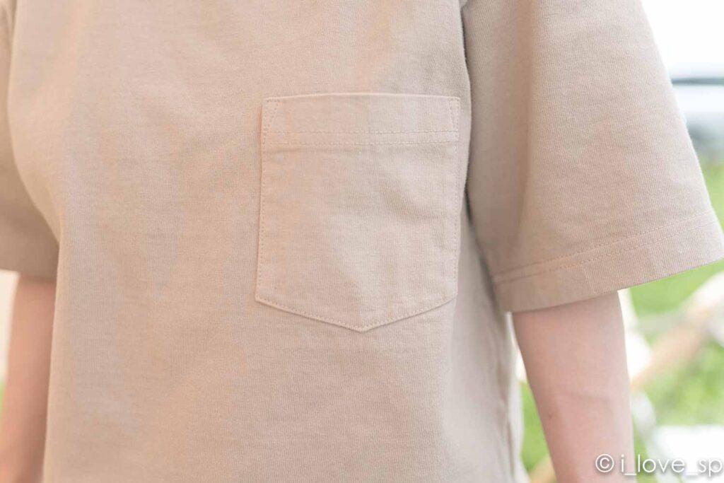 Heavy Cotton Tshirtのポケット
