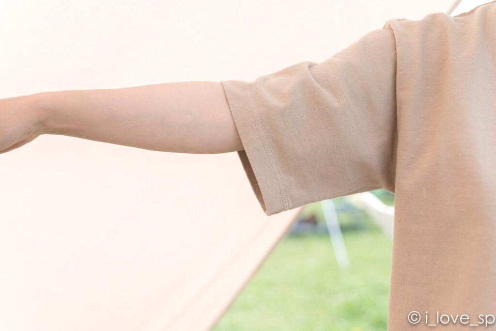 Heavy Cotton Tshirtのゆったり目の袖