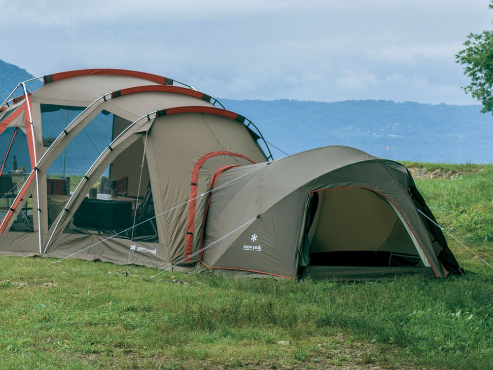 テントを連結できる