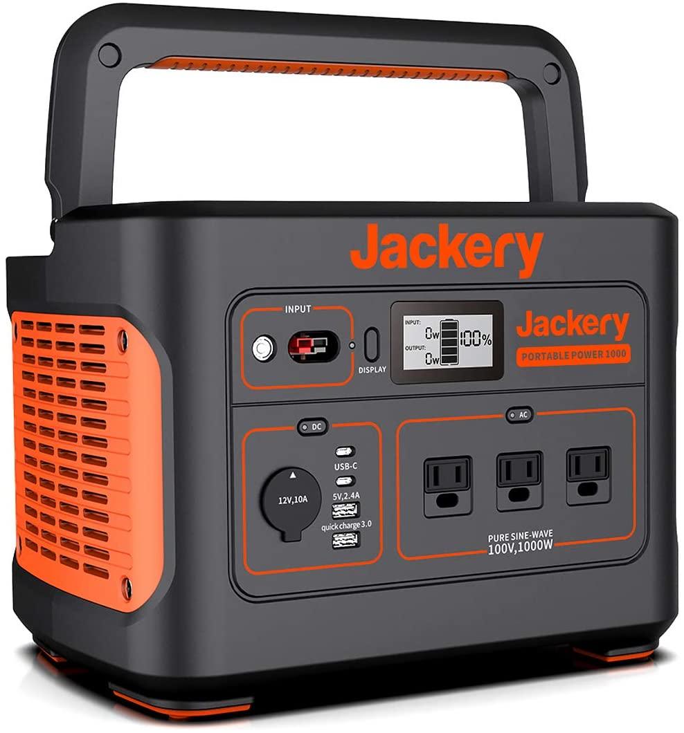 Jackery ポータブル電源1000 発電機 ポータブルバッテリー
