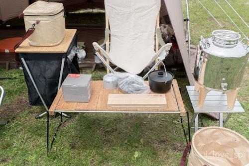 デイキャンプで毎回使用するメッシュラックボックス