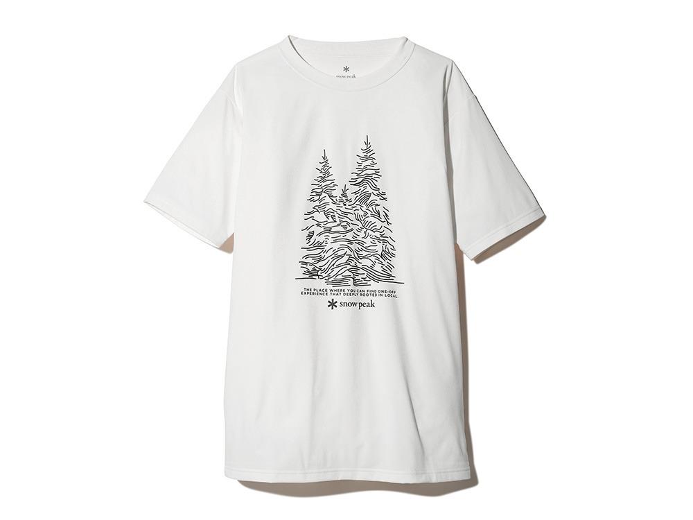 Graphic Tee Snow Treeホワイトのデザイン