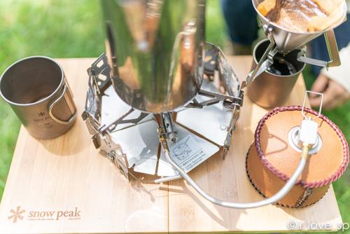 コーヒーセットをMyテーブルに乗せた写真