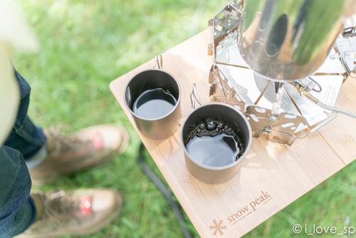 Myテーブル竹はコーヒーを淹れるのに最適